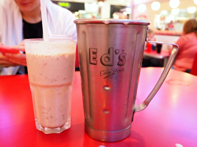 Ed's Diner Milkshake London Food Blog Blogger