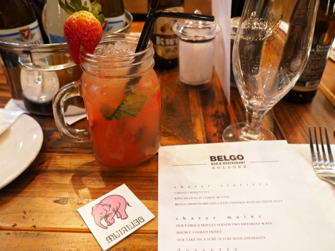 Belgo Fruli strawberry mojito cocktail food blogger