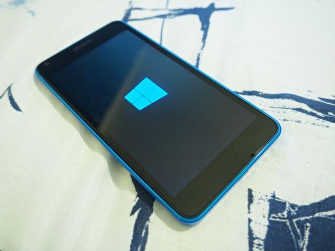 New Windows Nokia Lumia phone in blue