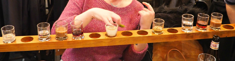 Belgo plank of alcohol shots