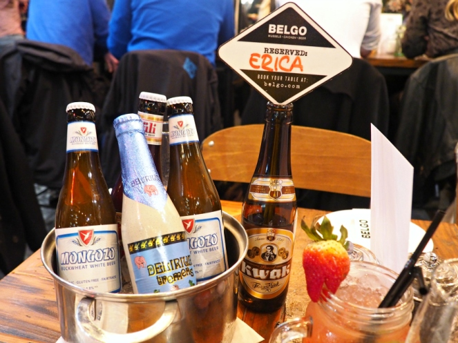 Belgian beers at Belgo London food blogger