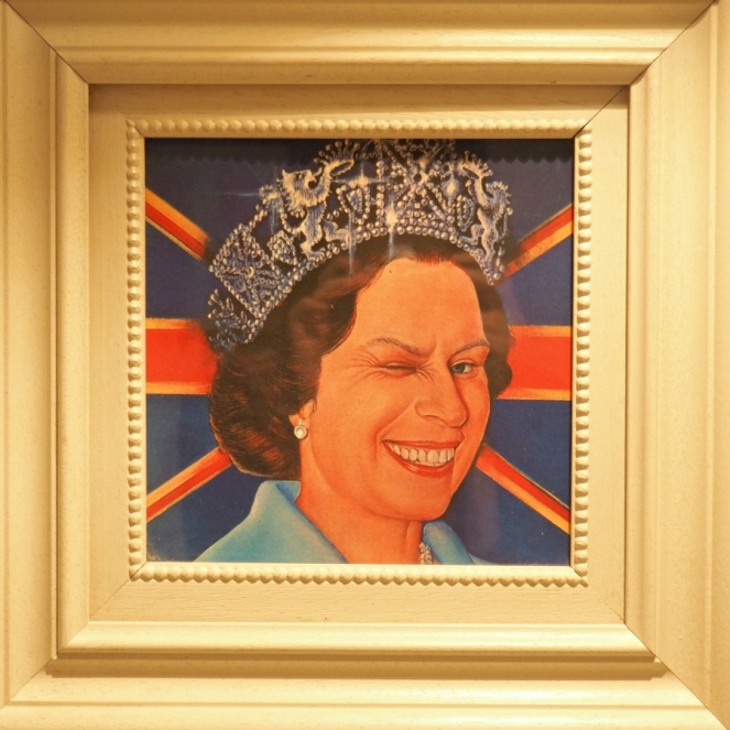 Queen Elizabeth The Henry Root cheeky funny royalty framed picture
