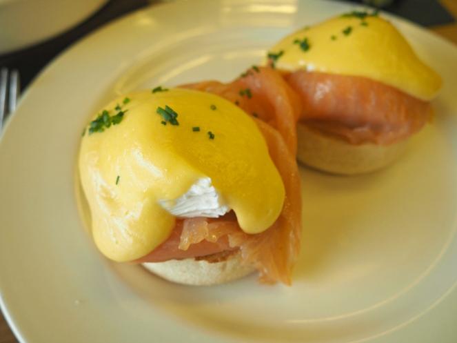 Eggs royal at Tom's Kitchen St Katherine's Docks London food blogger brunch breakfast