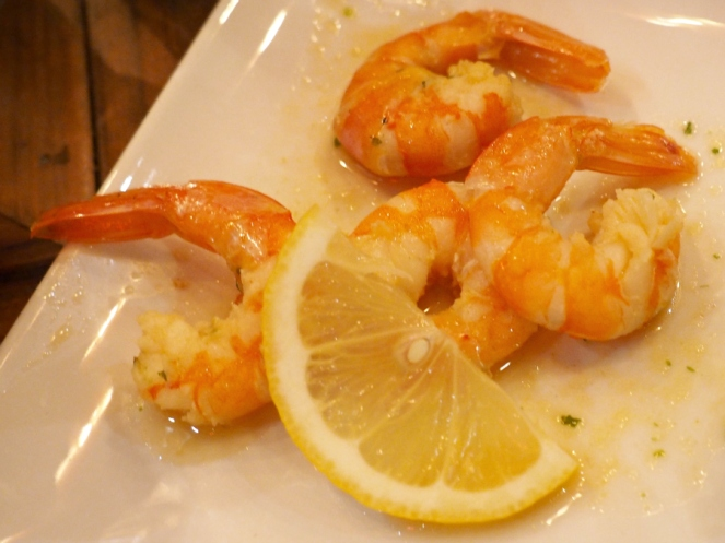 Garlic prawns London food blogger Belgo restaurant