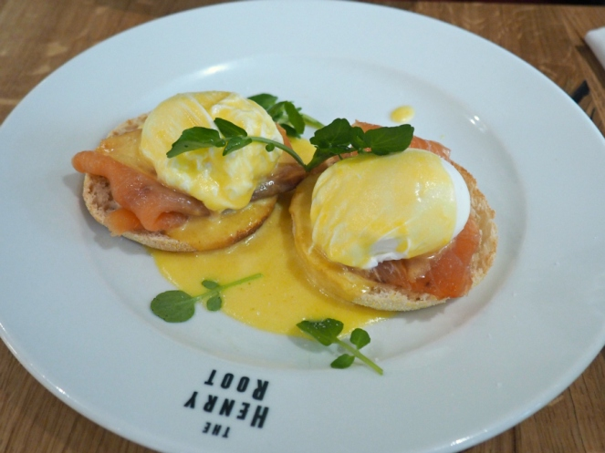The Henry Root poached eggs royale salmon London food blogger