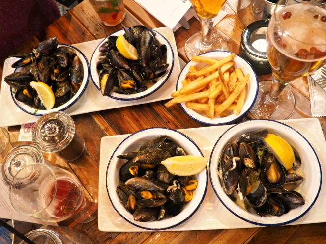 Mussels at Belgo London Seafood Chips Food Blogger