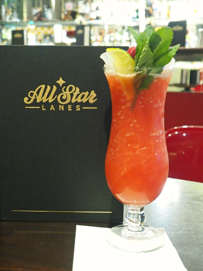 All Star Lanes Fruit Alcohol Cocktail Food Blogger