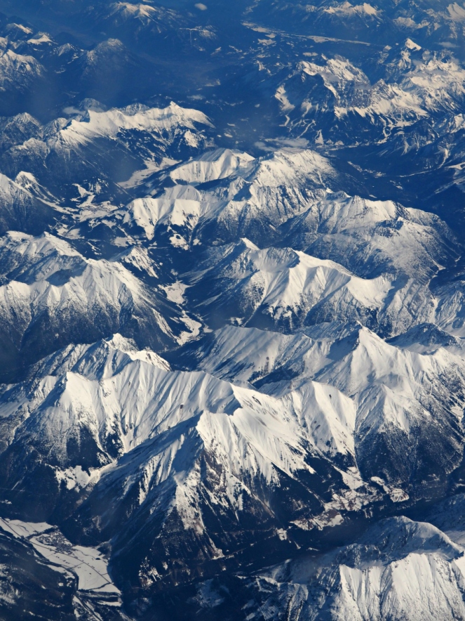 French Alps from the plane, Travel Blogger