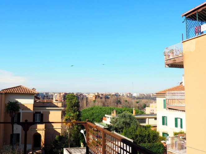 View of Rome Italy from Ars Hotel, Travel Blogger
