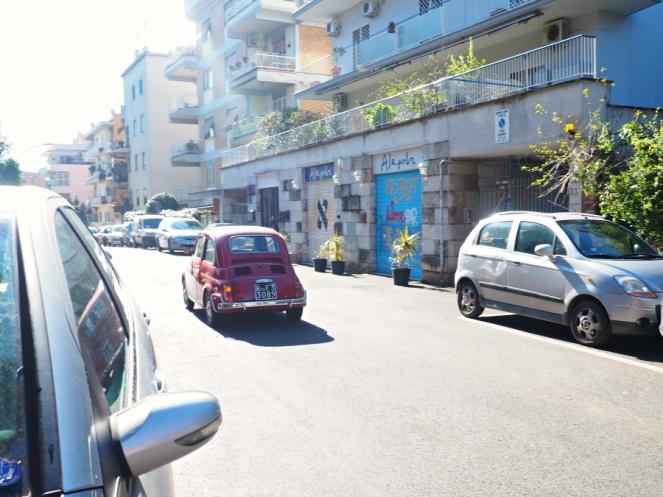 Mini Car in Rome Italy, Travel Blogger