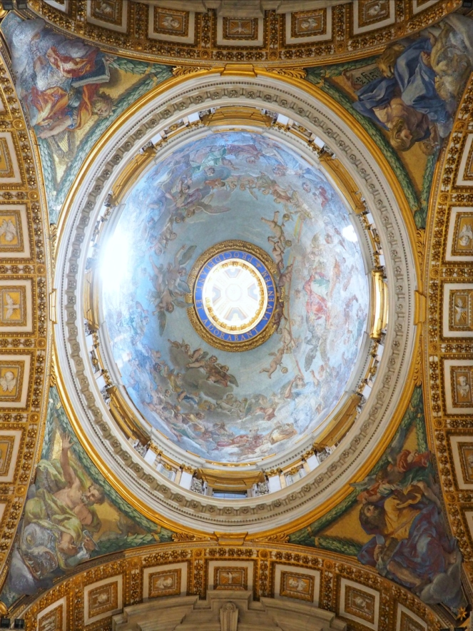 Vatican City Dome Ceiling Rome Italy, Travel Blogger