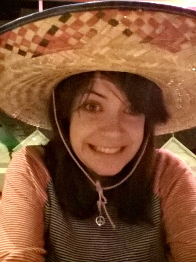 El Banditos Mexican Restaurant Food Blogger Sombrero Hat