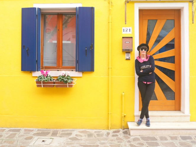 Burano Island Italy Venice Travel Blogger Bright Colourful Painted Yellow House