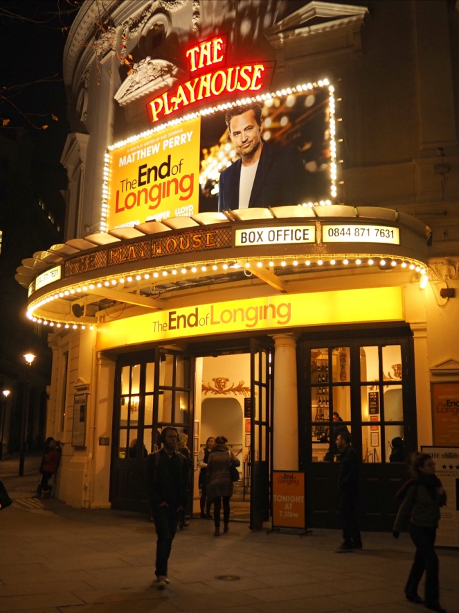 The End of Longing London West End Theatre Play Show Matthew Perry Chandler Bing Friends