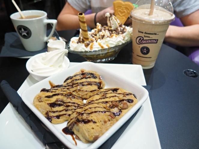 Creams Hot Cookie Dough Banana Split Ice Cream Milkshake Chocolate Dessert London Food Blogger
