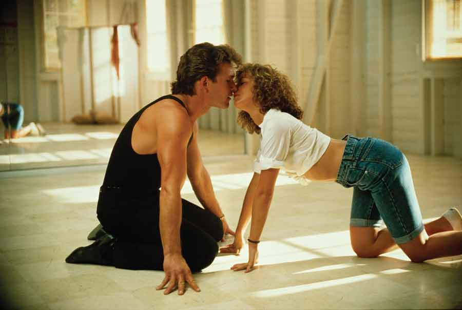 Dirty Dancing Baby and Johnny Kiss
