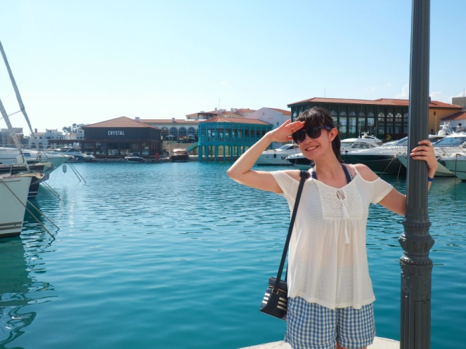 Travel Fashion Blogger Limassol Marina in Cyprus Summer Holiday