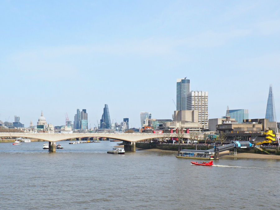 View of London City from the Bridge to Waterloo, Travel Blogger