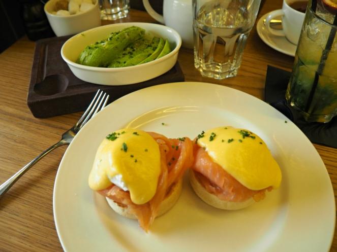 Tom's Kitchen St Katherines Dock Eggs Royale and Avocado Brunch London Food Blogger