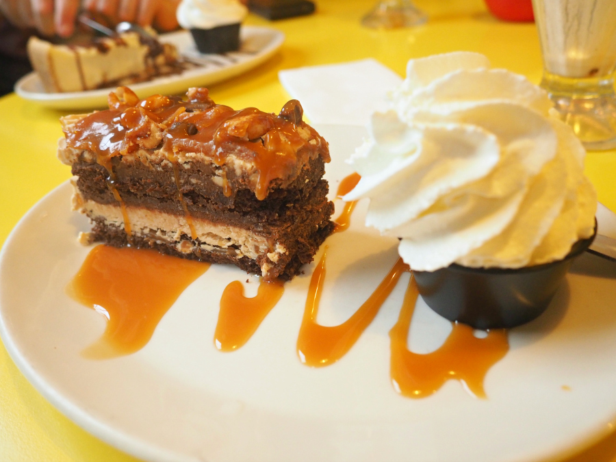 Tinseltown Gants Hill Hala Diner Peanut Butter Chocolate Cake Dessert London Food Blogger