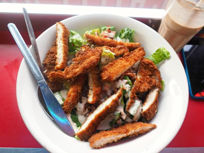 Ed's Easy Diner Chicken Ceasar Salad London Food Blogger