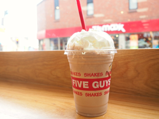 Five Guys Peanut Butter Chocolate Milkshake London Food Blogger