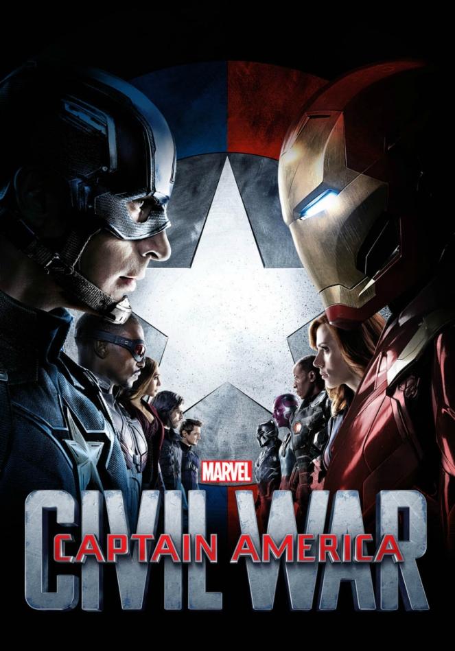 Marvel Captain America vs Iron Man Civil War Superhero Film Movie Poster