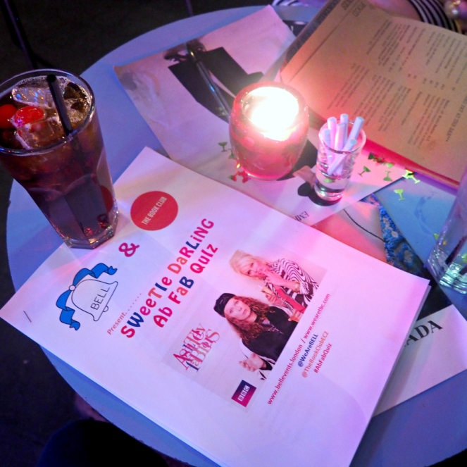 Absolutely Fabulous Quiz Night at The Book Club in Shoreditch London Blog Blogger