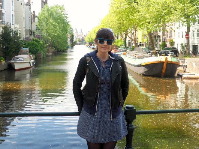 Archive by Alexa Chung Marks and Spencer Navy Dress Amsterdam Outfit Fashion Travel Blog Blogger