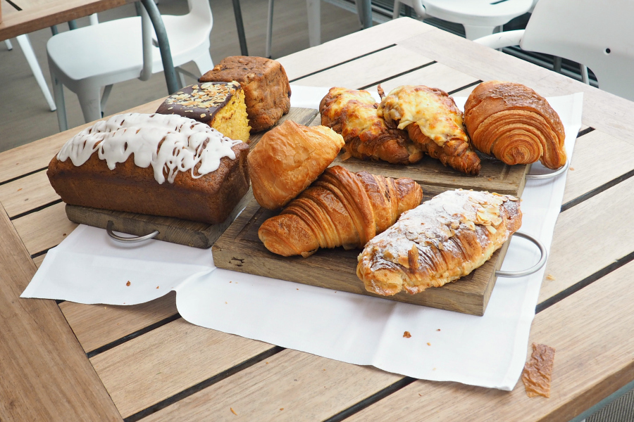 Selection of pastries at the Blogger Breakfast with Farfetch at Boundary Rooftop in East London