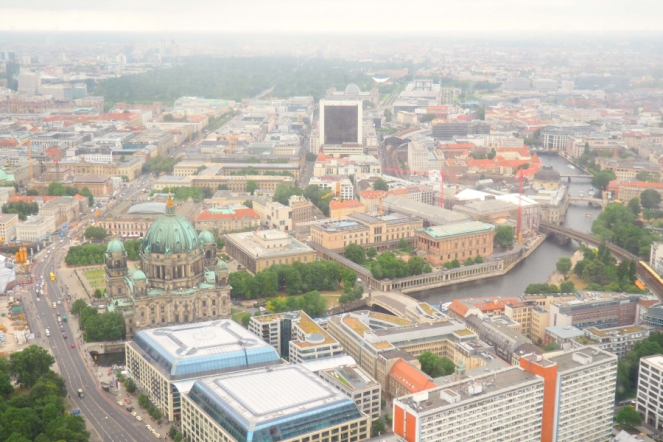 View of Berlin from the Fernsehturm TV Tower Travel Blog Blogger