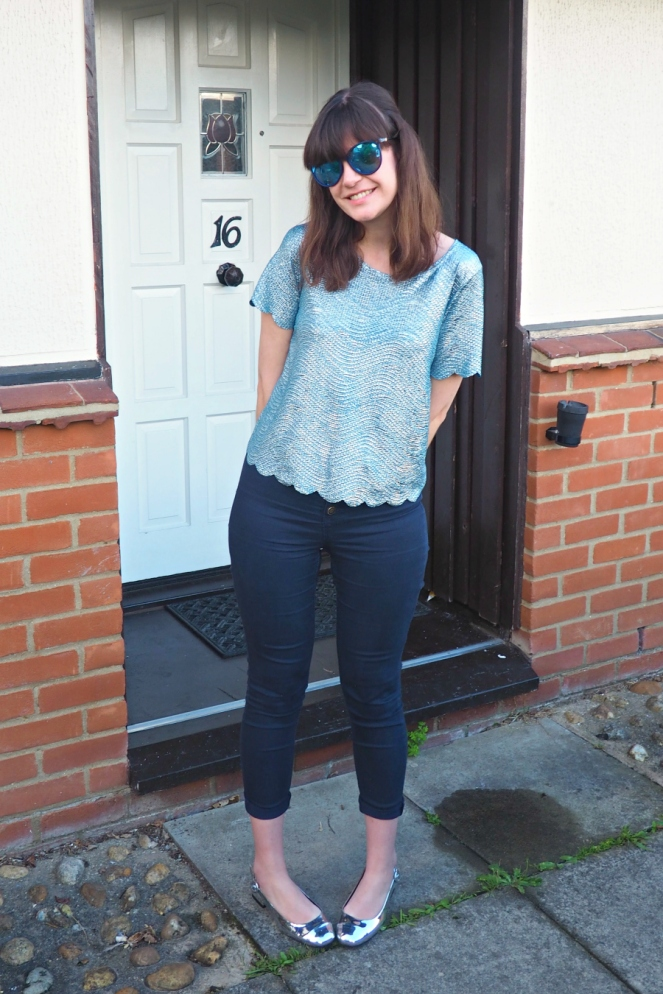 Shiny Party OOTD Outfit of the Day London Fashion Blog Blogger