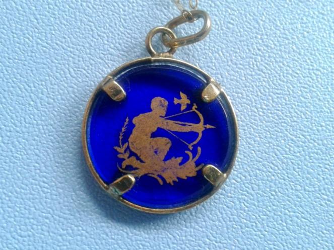Travel Blogger in Murano Island Glass Necklace Pendant Venice, Italy