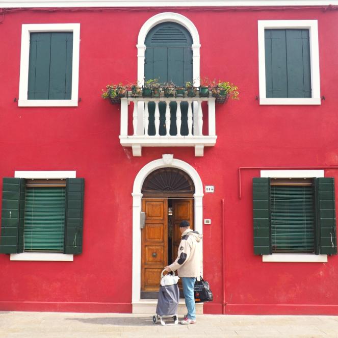 Travel Blogger in Burano Island Venice, Italy