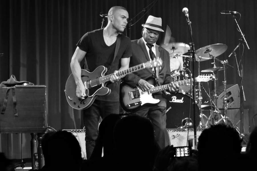 Booker T Jones and son at Brooklyn Bowl London Live Music Blog Blogger