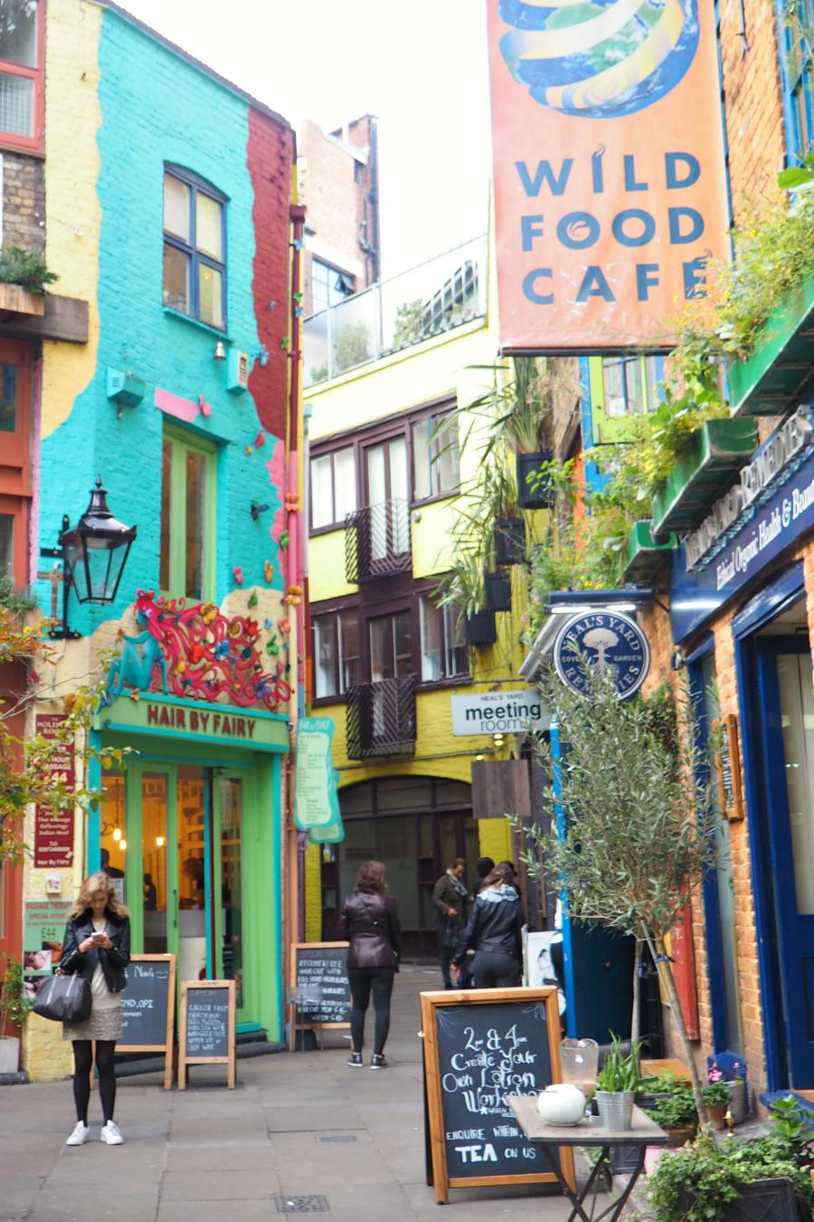 Colourful Neil's Yard Covent Garden London Blog Blogger