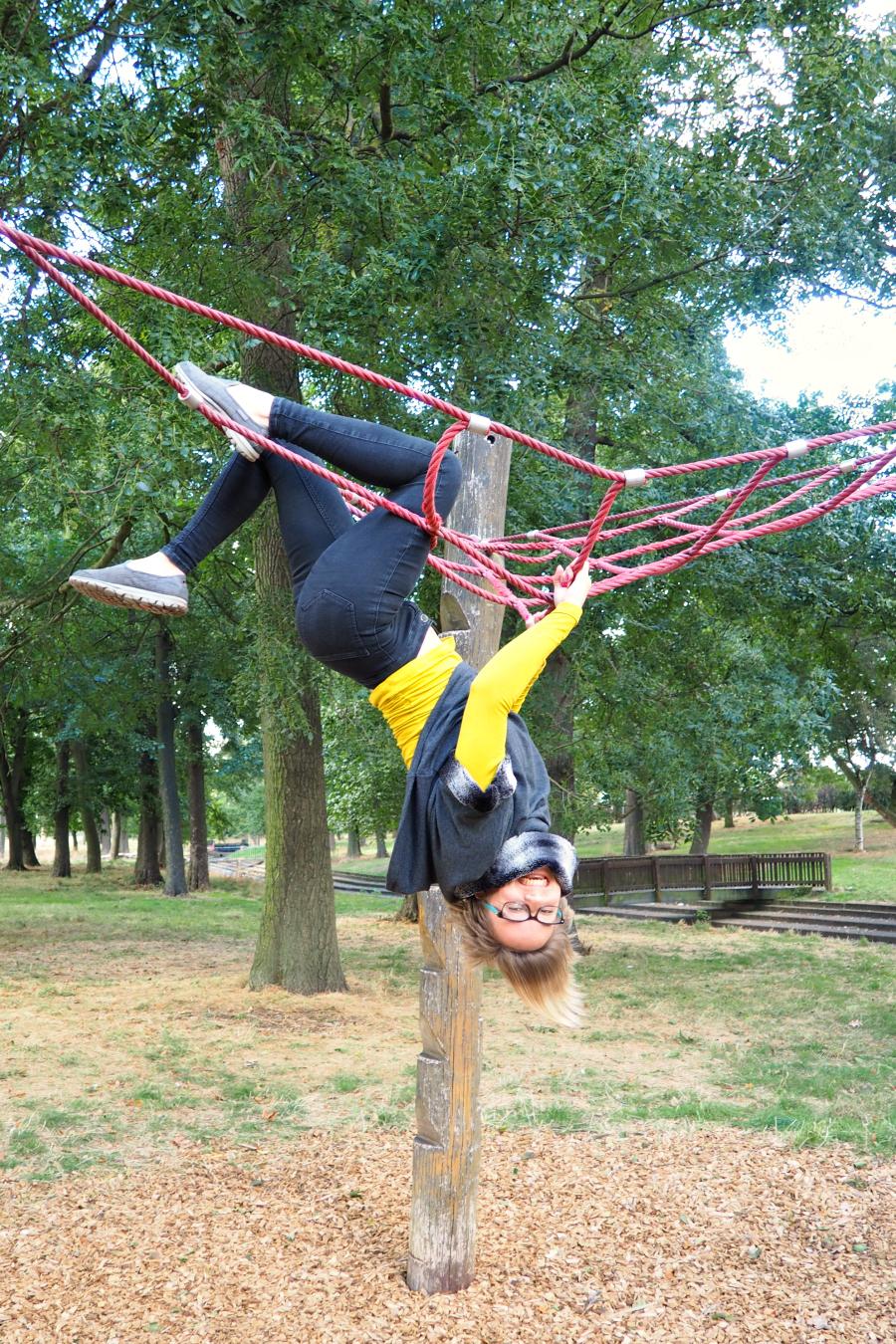 Gymnast in Valentine's Park Gants Hill East London Blog Blogger