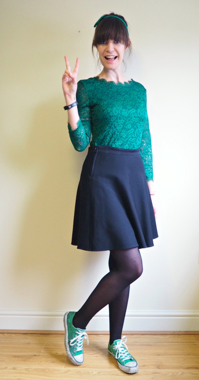 Green Lace Bodycon Dress 3 different styles London Fashion Blog Blogger