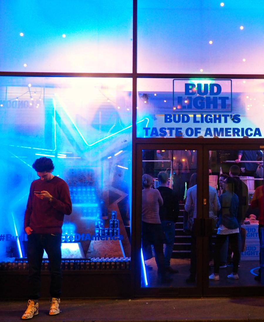 Bud Light Taste of America London Concept Pop-Up Store