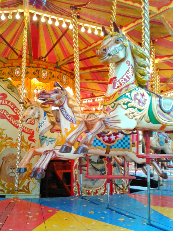 Vintage Carousel at the Xmas Market outside Tate Modern London Blog Blogger
