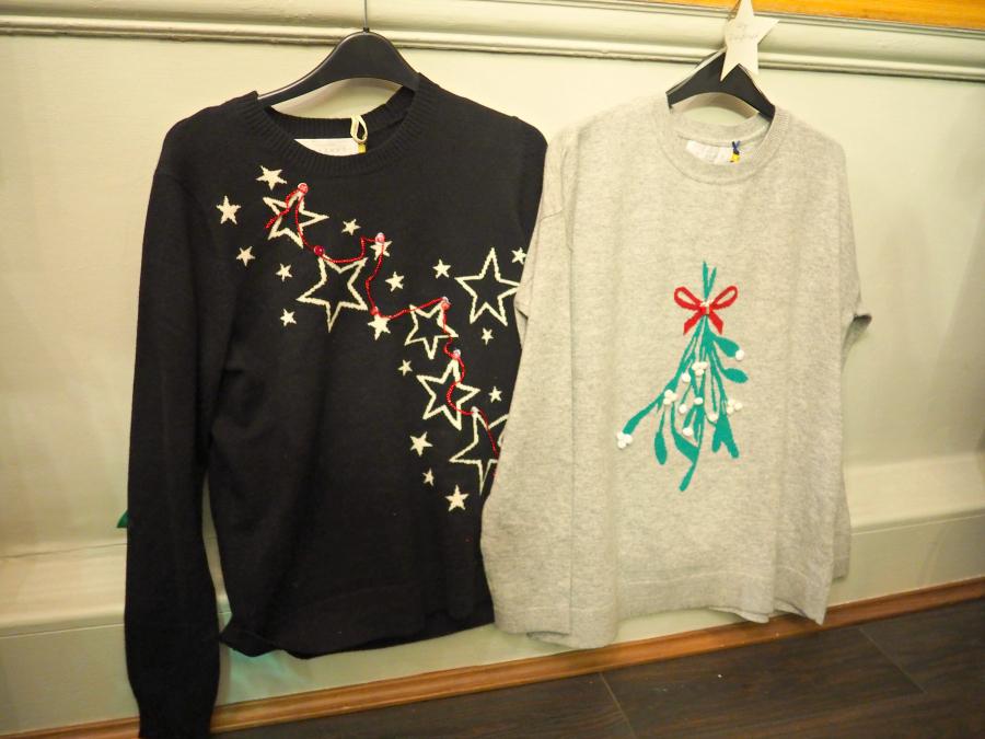 John Lewis Christmas Jumper Mistletoe Stars