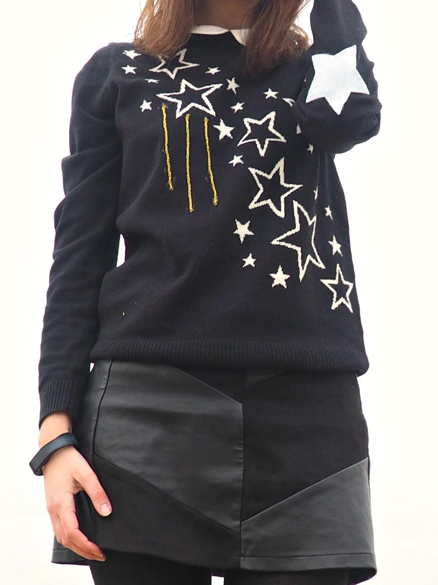 John Lewis Christmas Jumper Stars Beach OOTD Fashion Blog Blogger