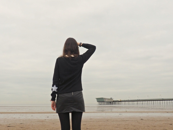 John Lewis Christmas Jumper Stars Beach OOTD Fashion Blog Blogger