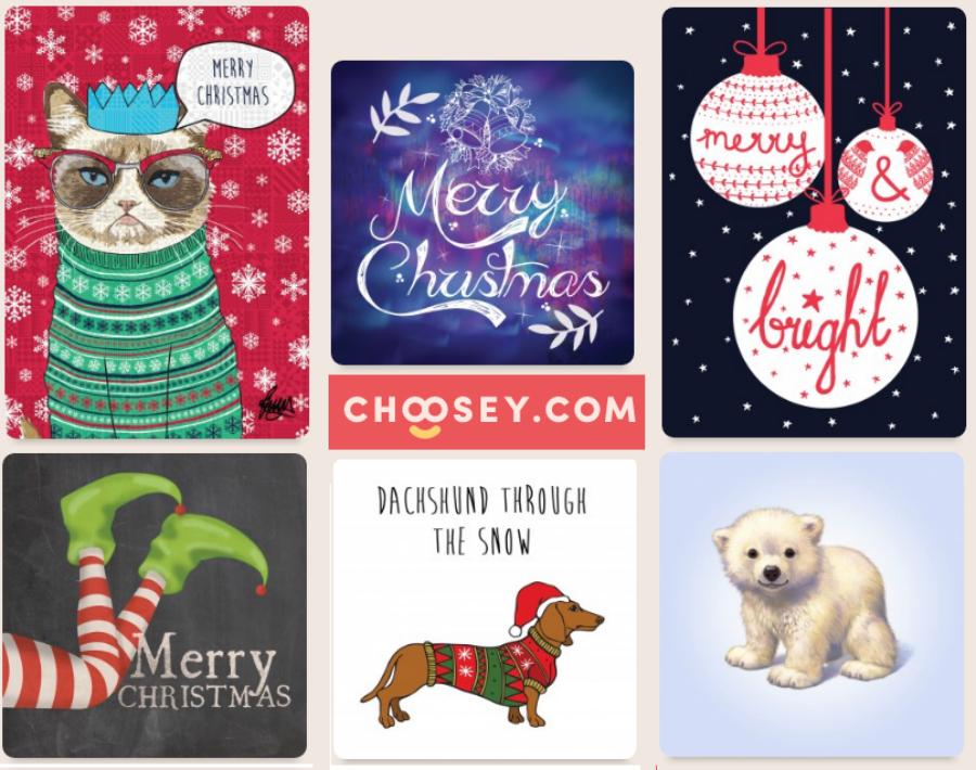 Choosey Christmas Cards