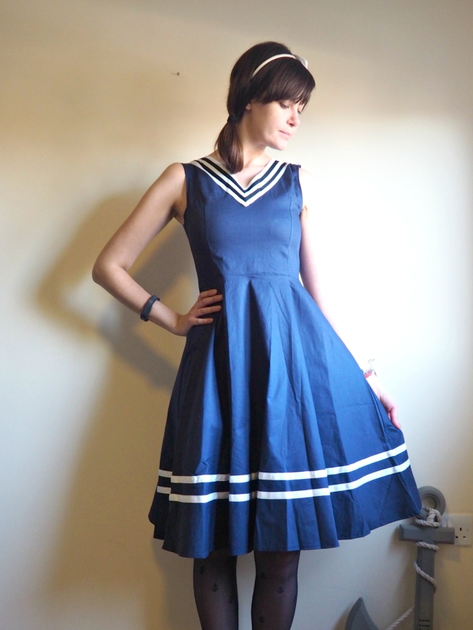 Acevog Sailor Nautical Dress OOTD Outift Fashion Blog Blogger