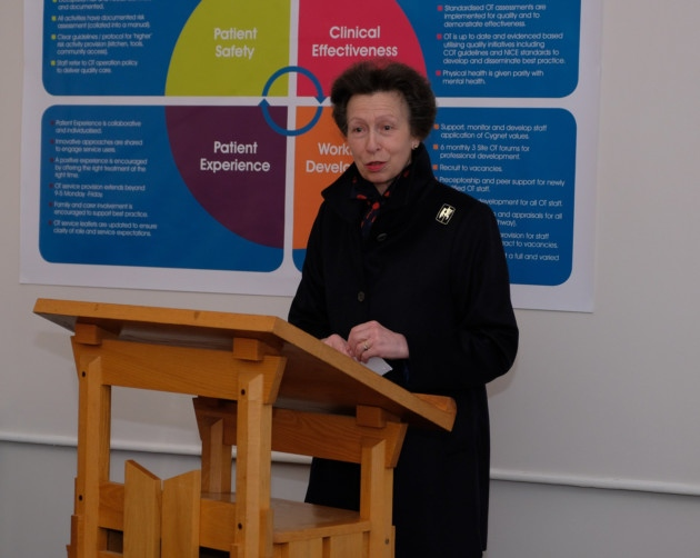 Princess Anne Visits Cygnet Hospital Beckton