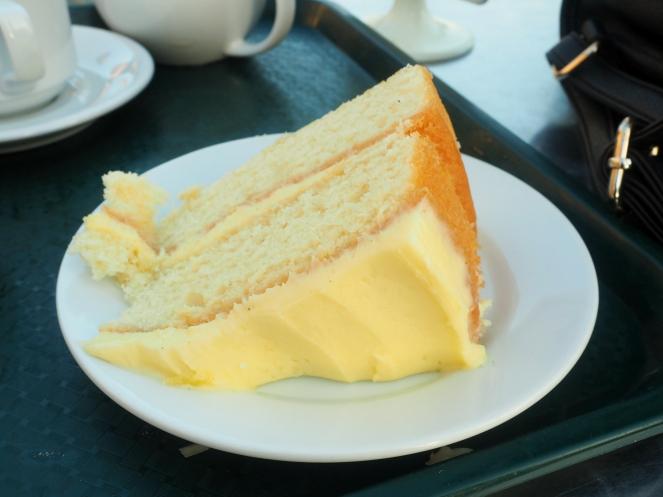 Lemon Cake at Valentines Park Garden Cafe