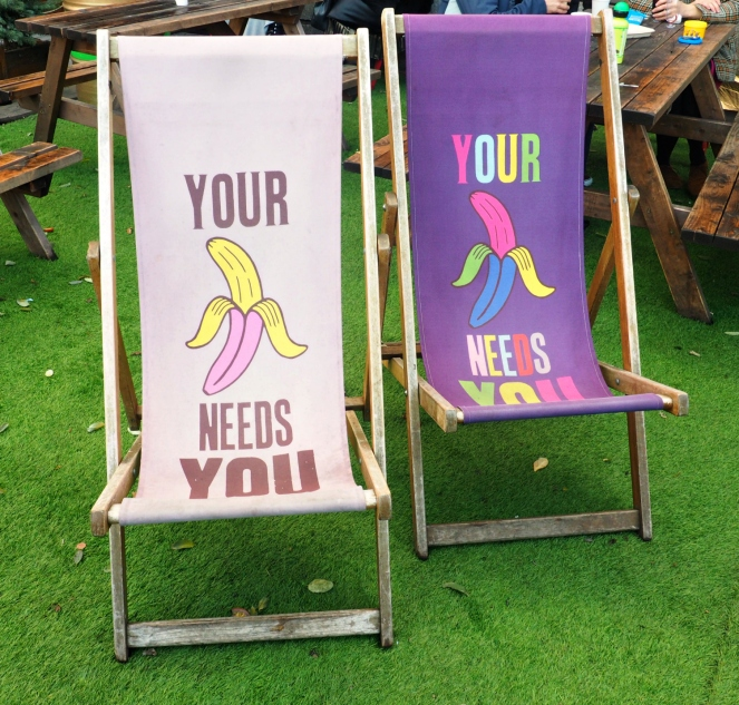 Your Banana Needs You Deck Chairs Southbank South Bank London