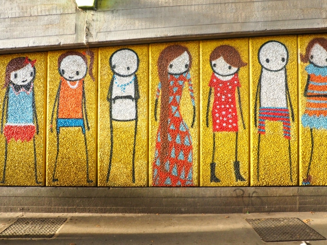 Stik Street Art London South Bank Southbank