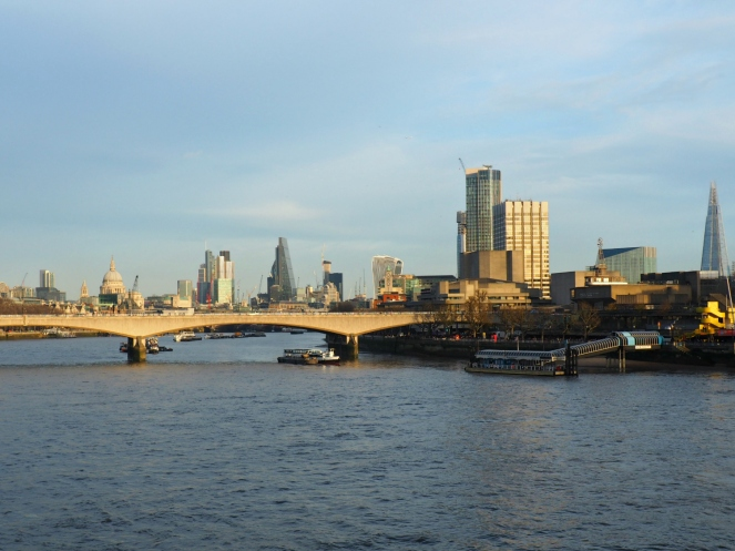 London City View Southbank South Bank Waterloo River Thames